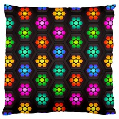 Pattern Background Colorful Design Large Flano Cushion Case (Two Sides)