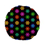Pattern Background Colorful Design Standard 15  Premium Flano Round Cushions
