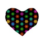 Pattern Background Colorful Design Standard 16  Premium Flano Heart Shape Cushions