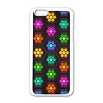 Pattern Background Colorful Design Apple iPhone 6/6S White Enamel Case