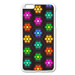 Pattern Background Colorful Design Apple iPhone 6 Plus/6S Plus Enamel White Case