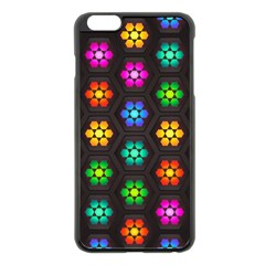 Pattern Background Colorful Design Apple iPhone 6 Plus/6S Plus Black Enamel Case