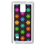 Pattern Background Colorful Design Samsung Galaxy Note 4 Case (White)