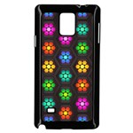 Pattern Background Colorful Design Samsung Galaxy Note 4 Case (Black)