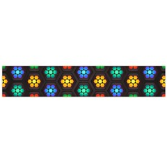 Pattern Background Colorful Design Flano Scarf (Large)