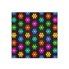 Pattern Background Colorful Design Satin Bandana Scarf