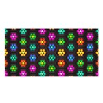 Pattern Background Colorful Design Satin Shawl Front