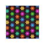 Pattern Background Colorful Design Small Satin Scarf (Square)