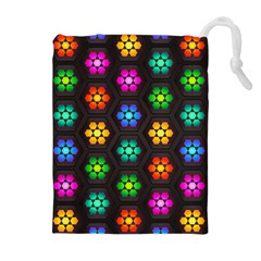 Pattern Background Colorful Design Drawstring Pouches (Extra Large)