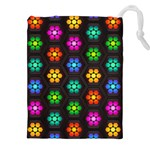Pattern Background Colorful Design Drawstring Pouches (XXL)