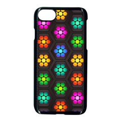 Pattern Background Colorful Design Apple iPhone 7 Seamless Case (Black)