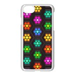 Pattern Background Colorful Design Apple iPhone 7 Seamless Case (White)