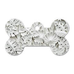 Pattern Motif Decor Dog Tag Bone (two Sides)