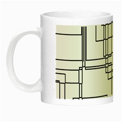 Structure Pattern Network Night Luminous Mugs by Amaryn4rt
