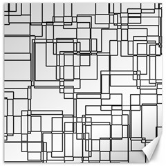 Structure Pattern Network Canvas 16  X 16   by Amaryn4rt