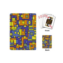 Square Background Background Texture Playing Cards (mini)  by Amaryn4rt