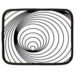 Spiral Eddy Route Symbol Bent Netbook Case (large) by Amaryn4rt