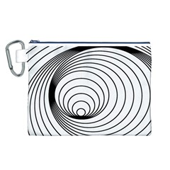 Spiral Eddy Route Symbol Bent Canvas Cosmetic Bag (l) by Amaryn4rt