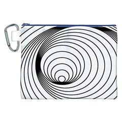 Spiral Eddy Route Symbol Bent Canvas Cosmetic Bag (xxl)