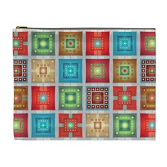 Tiles Pattern Background Colorful Cosmetic Bag (xl) by Amaryn4rt