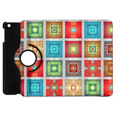 Tiles Pattern Background Colorful Apple Ipad Mini Flip 360 Case by Amaryn4rt