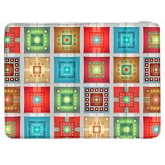 Tiles Pattern Background Colorful Samsung Galaxy Tab 7  P1000 Flip Case by Amaryn4rt