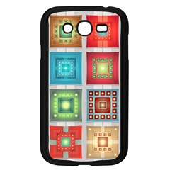 Tiles Pattern Background Colorful Samsung Galaxy Grand Duos I9082 Case (black) by Amaryn4rt