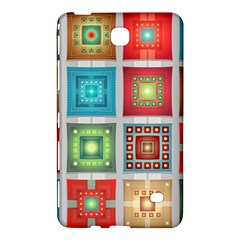 Tiles Pattern Background Colorful Samsung Galaxy Tab 4 (8 ) Hardshell Case  by Amaryn4rt
