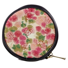 Aquarelle Pink Flower  Mini Makeup Bags by Brittlevirginclothing