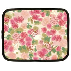 Aquarelle Pink Flower  Netbook Case (xl)  by Brittlevirginclothing