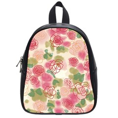 Aquarelle Pink Flower  School Bags (small)  by Brittlevirginclothing