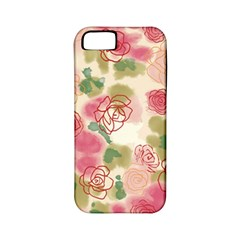 Aquarelle  Pink Flower  Apple Iphone 5 Classic Hardshell Case (pc+silicone) by Brittlevirginclothing