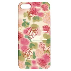 Aquarelle  Pink Flower  Apple Iphone 5 Hardshell Case With Stand by Brittlevirginclothing