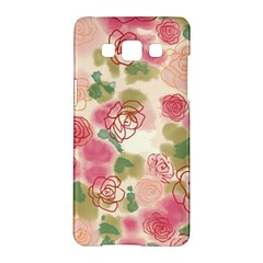 Aquarelle  Pink Flower  Samsung Galaxy A5 Hardshell Case  by Brittlevirginclothing
