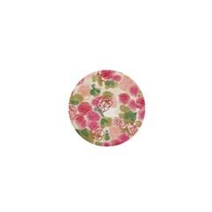 Aquarelle Pink Flower  1  Mini Buttons