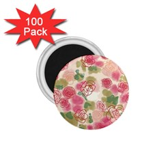 Aquarelle Pink Flower  1 75  Magnets (100 Pack)  by Brittlevirginclothing
