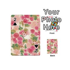 Aquarelle Pink Flower  Playing Cards 54 (mini)  by Brittlevirginclothing