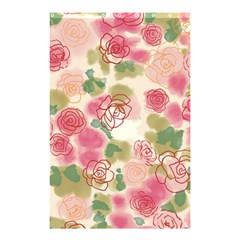 Aquarelle Pink Flower  Shower Curtain 48  X 72  (small)  by Brittlevirginclothing