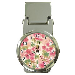 Aquarelle Pink Flower  Money Clip Watches by Brittlevirginclothing