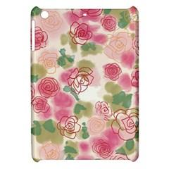 Aquarelle Pink Roses Apple Ipad Mini Hardshell Case by Brittlevirginclothing