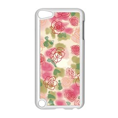 Aquarelle Pink Roses Apple Ipod Touch 5 Case (white) by Brittlevirginclothing