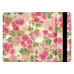 Aquarelle Pink Roses Samsung Galaxy Tab Pro 12 2  Flip Case by Brittlevirginclothing