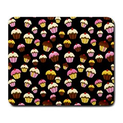 Jammy Cupcakes Pattern Large Mousepads by Valentinaart