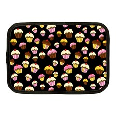 Jammy Cupcakes Pattern Netbook Case (medium)  by Valentinaart