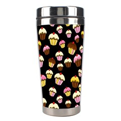 Jammy Cupcakes Pattern Stainless Steel Travel Tumblers by Valentinaart
