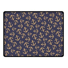 Anchor Ship Fleece Blanket (small) by Jojostore