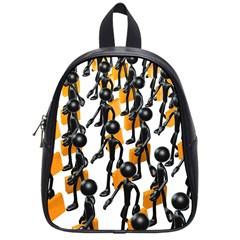 Business Men Marching Concept School Bags (small)  by Jojostore