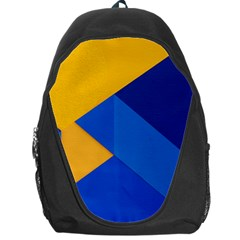 Box Yellow Blue Red Backpack Bag by Jojostore