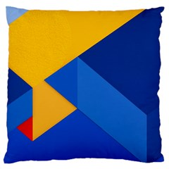 Box Yellow Blue Red Large Flano Cushion Case (two Sides) by Jojostore
