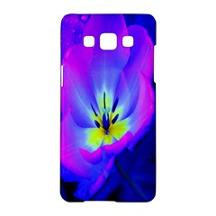 Blue And Purple Flowers Samsung Galaxy A5 Hardshell Case  by Jojostore